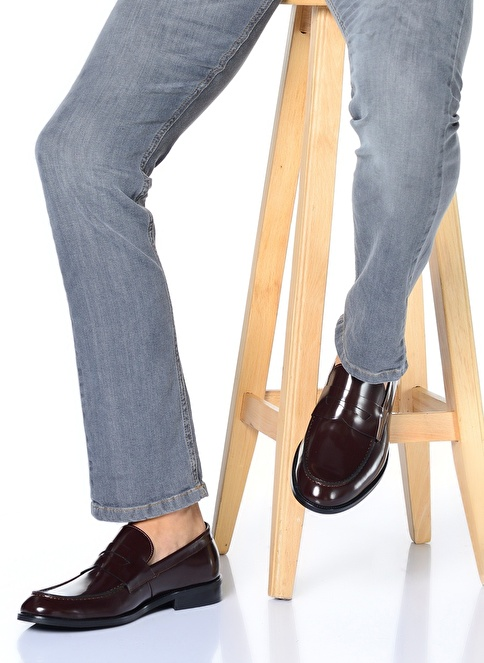 Baqietto %100 Deri Klasik Ayakkabı Bordo